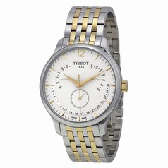 Tissot Tradition Perpetual White Dial Two-tone Men's Watch T0636372203700